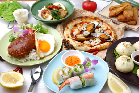 Various dishes in the world  photo
