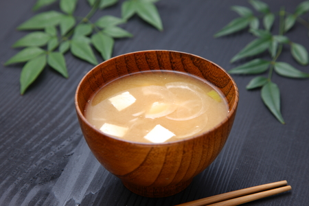 hashi: Miso Soup Stock Photo