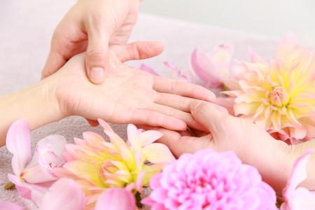 hand massage Фото со стока