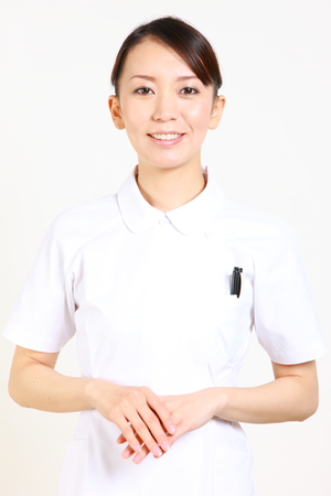pleasant: Pleasant young Japanese nurse