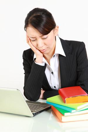 baffled: depressed businesswoman