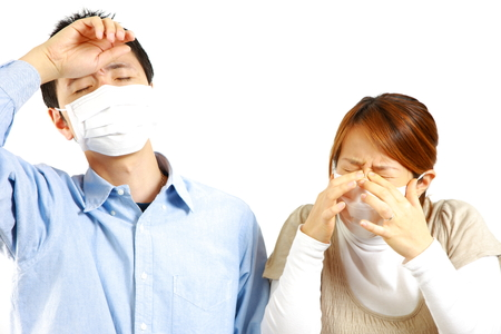 Japanese Couple suffers from allergic rhinitis photo