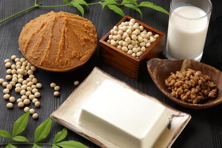 Japanse sojabonen verwerkt voedsel Stockfoto