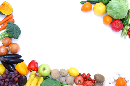 fruits and vegetables frame Stock Photo - 32034538