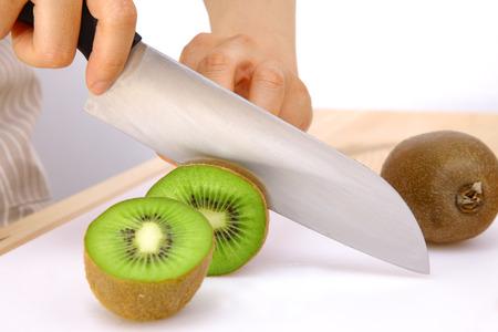 kiwi fruta: kiwi corte