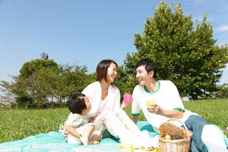 familia picnic: Familiy Picnic Foto de archivo