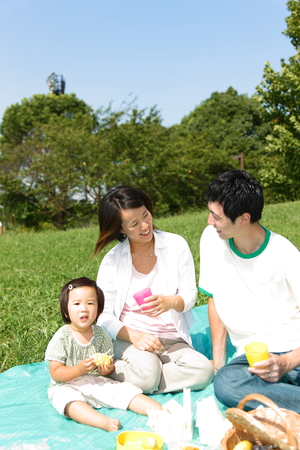 familiy: Familiy Picnic   Stock Photo