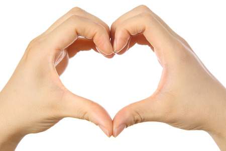heart shaped hands sign photo