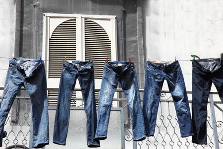 washing pants Foto de archivo