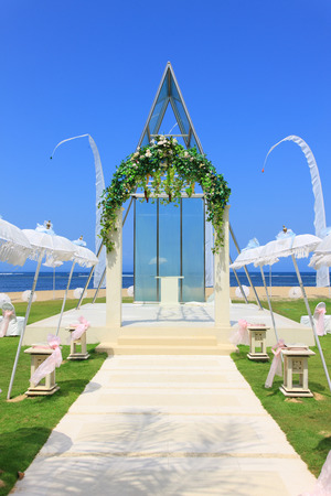 wedding chapel by the beach photo
