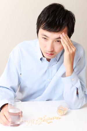 n�vrose: l'homme souffre d'une n�vrose Banque d'images
