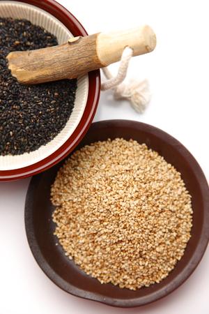 black sesame and white sesame 版權商用圖片