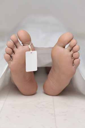 dissection: dead body at a morgue