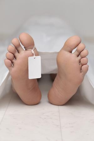 morgue: dead body at a morgue