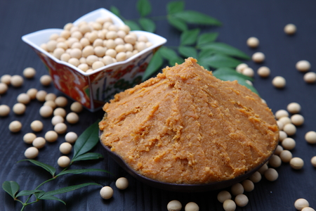 soybean paste MISO and soybeans