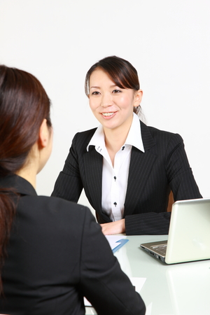 Japanese businesswoman of two photo