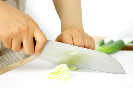 scallion: cutting scallion