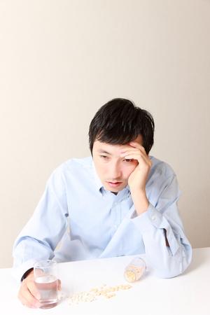 neurosis: man suffers from a neurosis