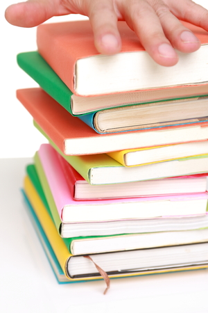 printed matter: stacked books