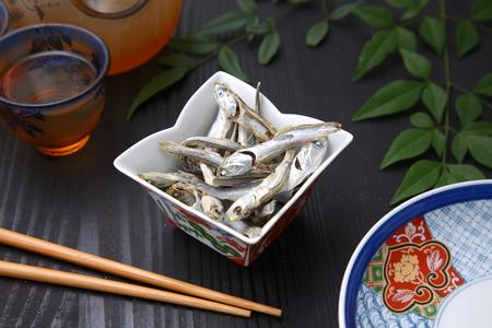 日本のスープ ストックのイワシを乾燥 写真素材