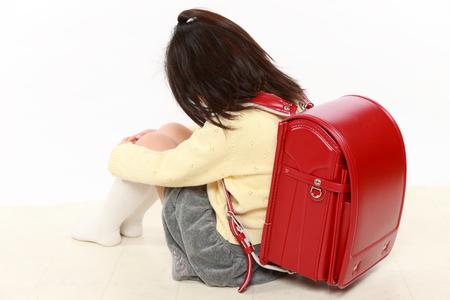 bullied: Japanese bullied child Stock Photo