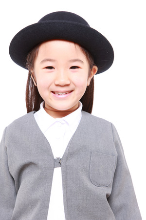 Japanese School Girl Smiles photo