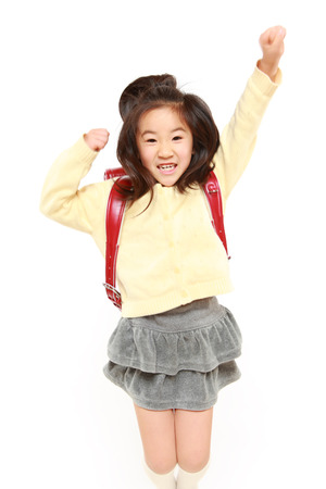 Japanese School Girl jumps photo