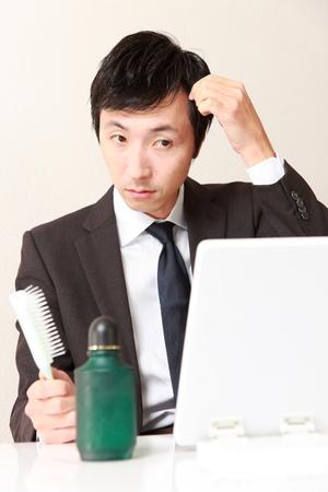 losing hair photo