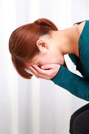 depressed woman photo