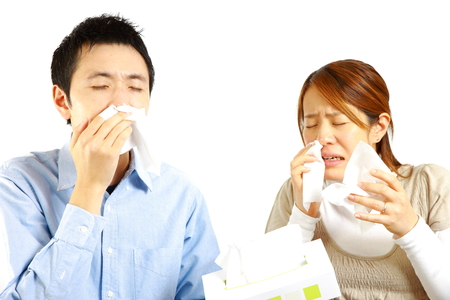 Japanese Couple suffers from allergic rhinitis