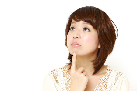 woman thinks about something