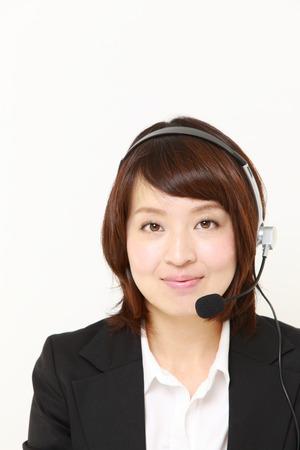 businesswoman of call center photo