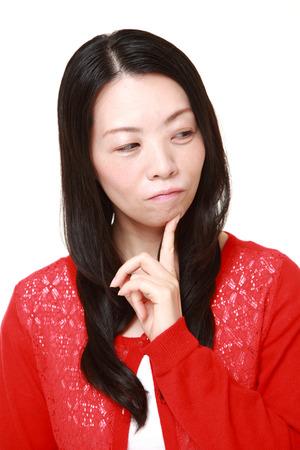 worries: Japanese woman worries