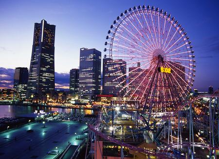 Yokohama at dusk Imagens