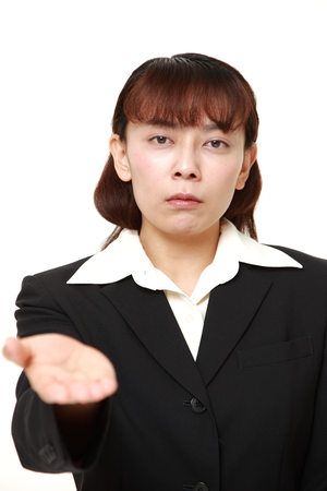 denunciation: angry businesswoman requests