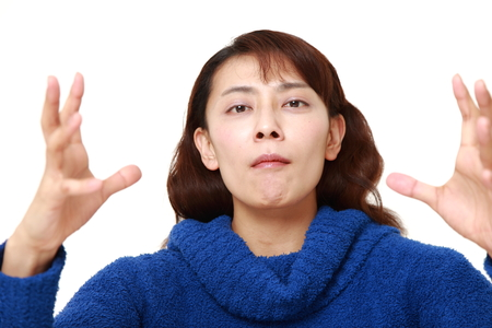 supernatural power: asian woman with supernatural power