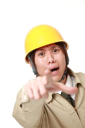 パニック状態の建設労働者