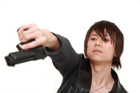 hoodlum: man with a handgun