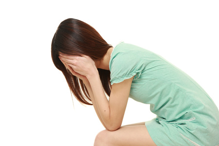 depressed woman 免版税图像