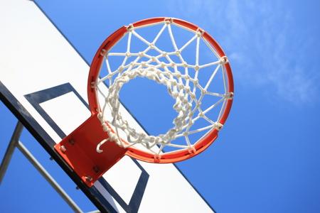 バスケット ボール フープ 写真素材