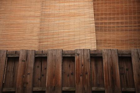 "japones bambu: Persiana de bamb� japonesa ""Sudare"" Foto de archivo"