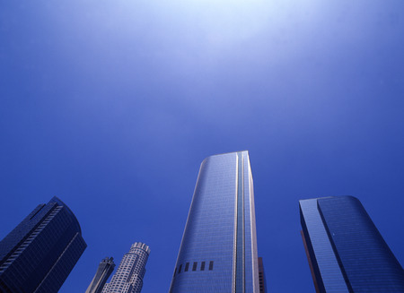 highrises: skyscrapers of L.A... Stock Photo
