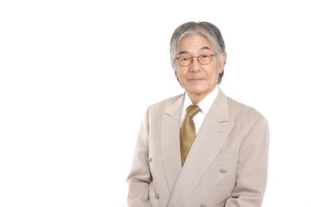Japanese senior businessman