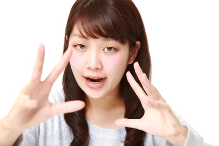 supernatural power: young Japanese woman with supernatural power