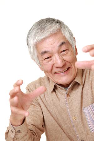 powe: senior Japanese man with supernatural powe