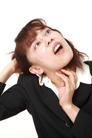 demented: demented businesswoman Stock Photo