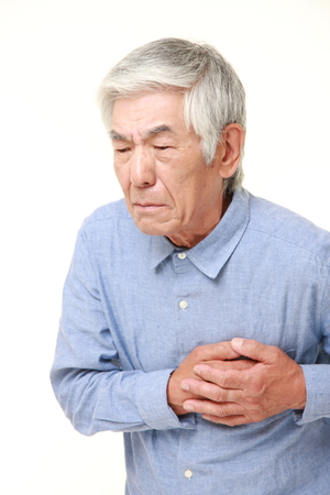 senior Japanese man heart attack