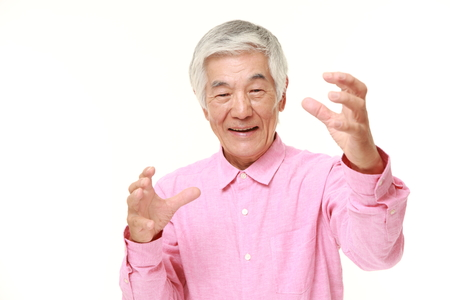 supernatural power: senior Japanese man with supernatural power