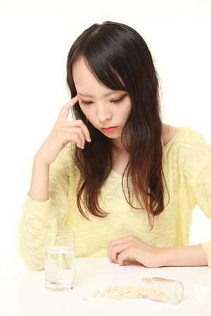 melancholy: woman suffers from melancholy Stock Photo