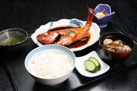 white rice: Japanese Cuisine Stock Photo